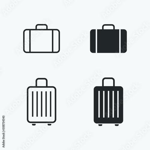 Carta da parati baggage icons set. vector illustration of suitcase for web