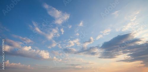 Blue sky clouds background фототапет