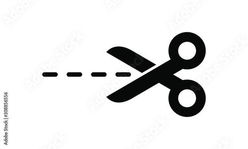 Valokuva Cutting scissors icon