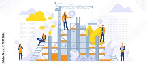 Vászonkép New construction building architecture engineering