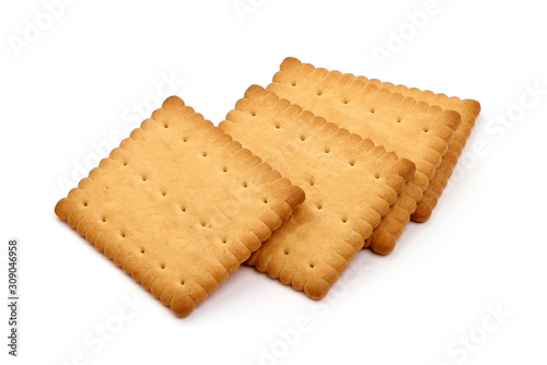 Canvas Biscuits, sweet cookies, isolated on white background
