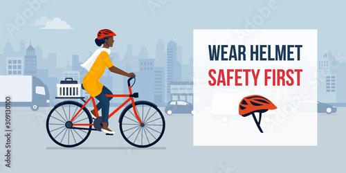 Fototapeta Wear helmet for your safety