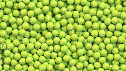 Canvas Print Huge pile of tennis balls