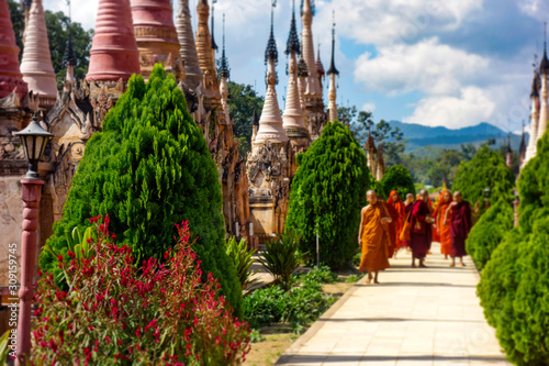 Obraz na płótnie Kakku Pagodas
