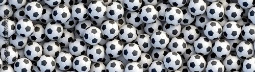 Fotografía Soccer balls background
