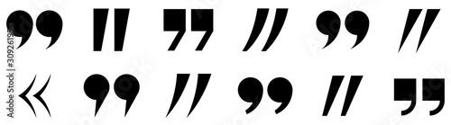 Fotografie, Obraz Quotes icon set. Quote marks. Vector