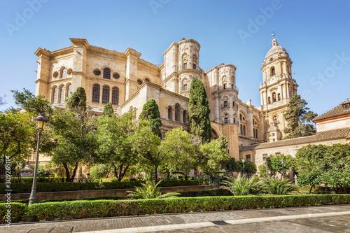 Carta da parati Cathedral of Malaga, Andalusia, Spain