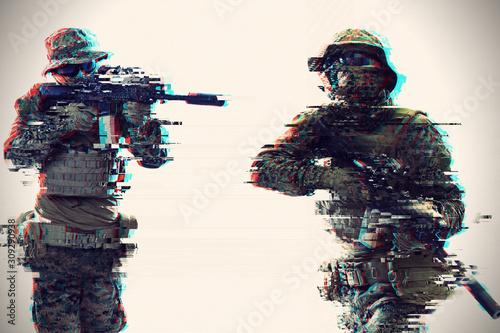 Canvas-taulu soldier aiming laseer sight optics glitch