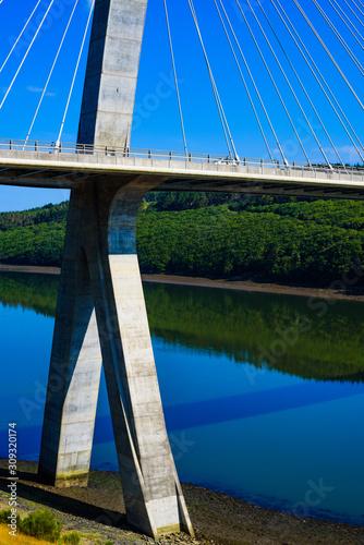 Valokuvatapetti Stunningly beautiful Terenez bridge to the Crozon Peninsula
