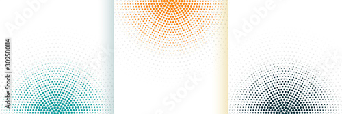 abstract halftone white background set in three colors