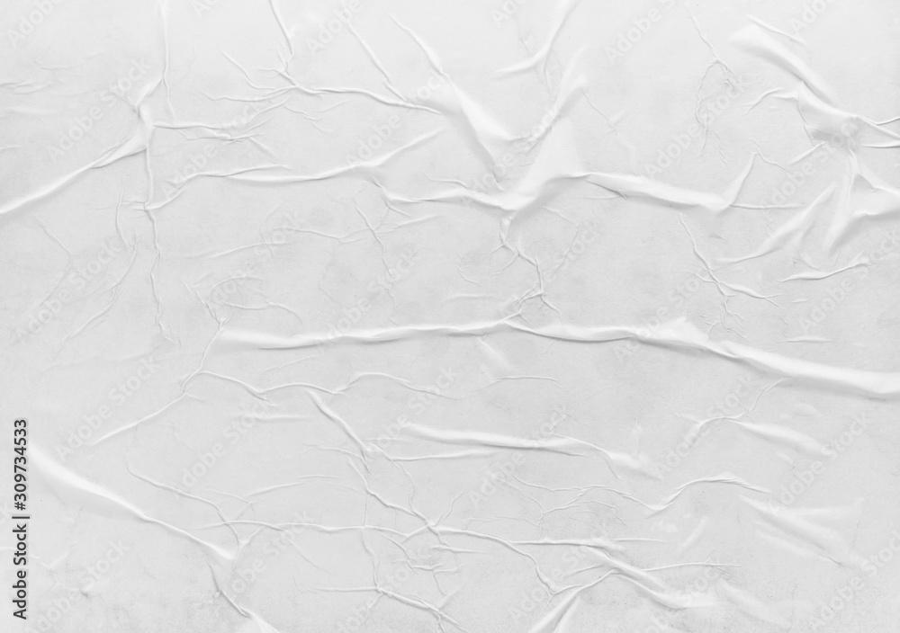 Surface of wet crumpled glued paper <span>plik: #309734533 | autor: PaulPaladin</span>