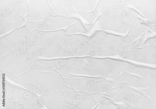 Surface of wet crumpled glued paper Fotobehang
