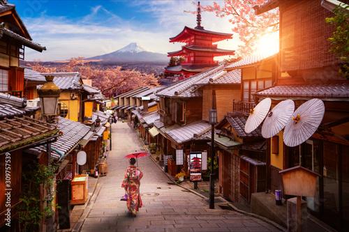 Fototapeta premium Koncepcja Backgroung podróży w Japonii obrazu
