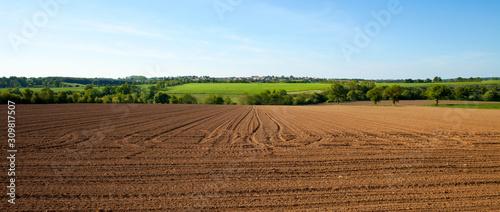 Fotografie, Tablou Paysage de campagne en été dans la campagne française.