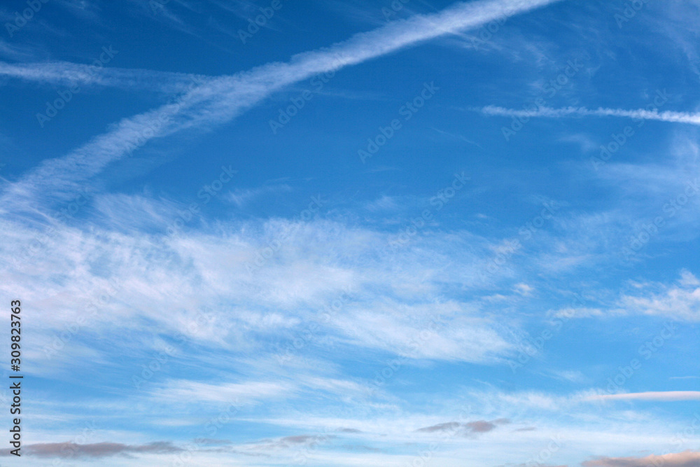 blue sky and white clouds