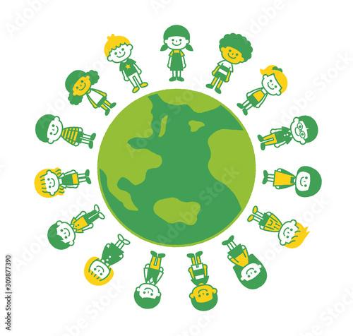 Children around the world Fototapeta