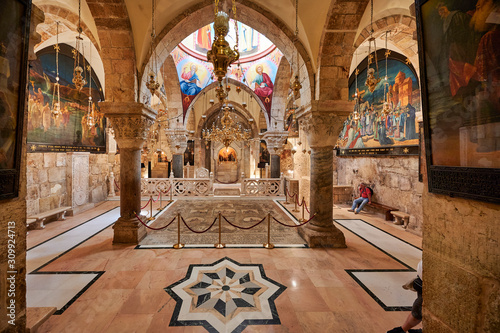 Canvas Print Jerusalem Israel. The church of the Holy Sepulchre