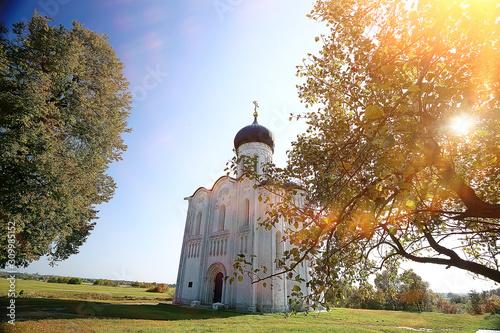Fotografie, Obraz church summer landscape orthodox / summer landscape, faith religion architecture