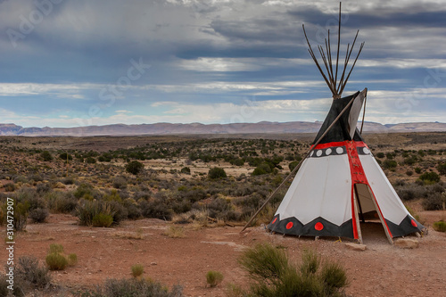 The traditional home of North American Indians wigwam Fototapeta