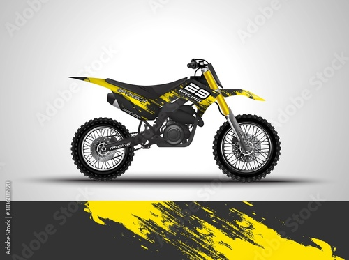 Racing motorcycle wrap decal and vinyl sticker design фототапет
