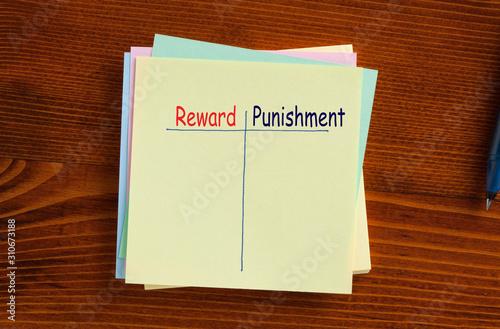 Photo Reward Punishment Concept