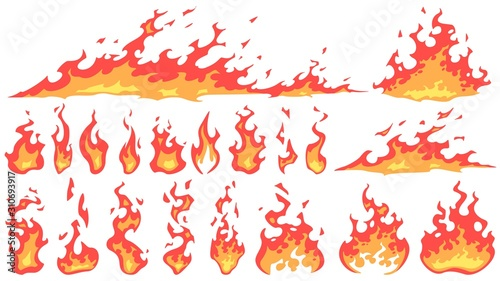 Fotografie, Tablou Cartoon fire flames