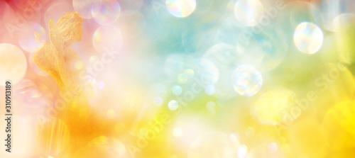 Leinwand Poster Banner Engel in strahlend hellem Pastelllicht