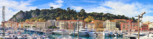 фотография Nice, France - December 02, 2019: View of the commercial Lympia port in a clear