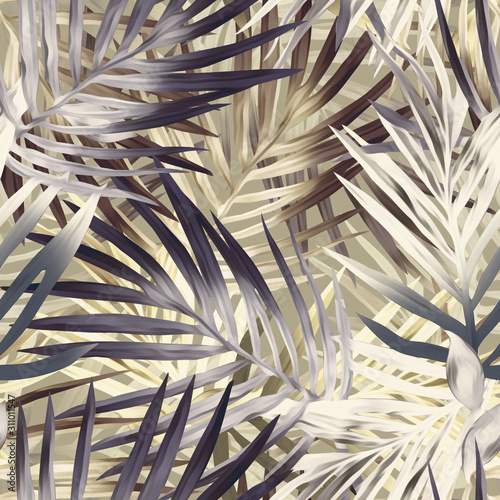 Fototapeta Wzór liści palmowych. Tło artystyczne.