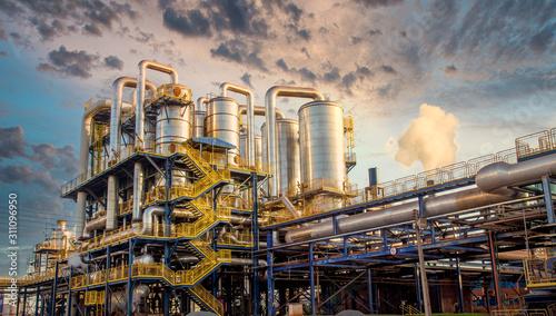 Obraz na plátne sugar factory industry line production cane process