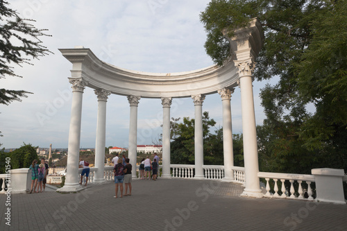 Colonnade in the square of internationalist soldiers on Lenin street in the city Fototapeta
