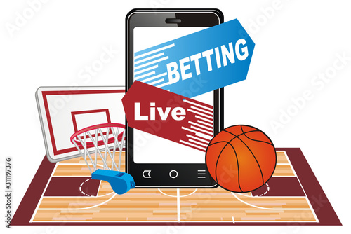 basketball and bet Fototapeta