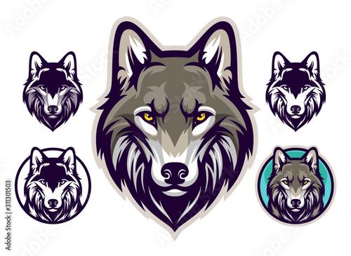 Billede på lærred Wolf head emblem