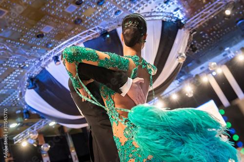 Fototapeta couple dancing standard dance