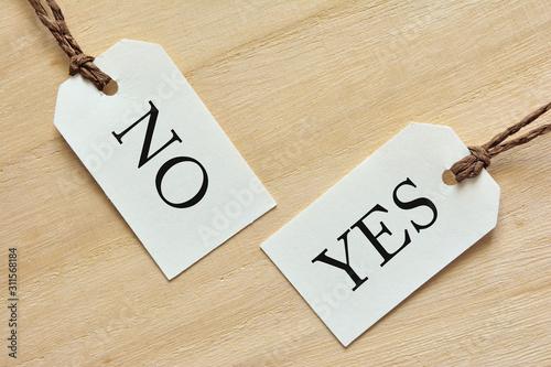 Obraz na płótnie YES or NO