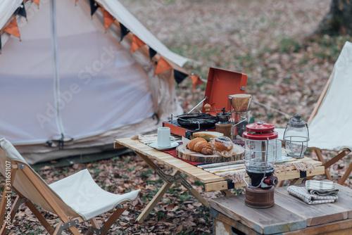 キャンプ Fototapeta