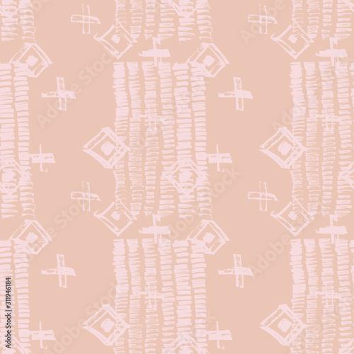 Plakat z modnym wzorem na kimono
