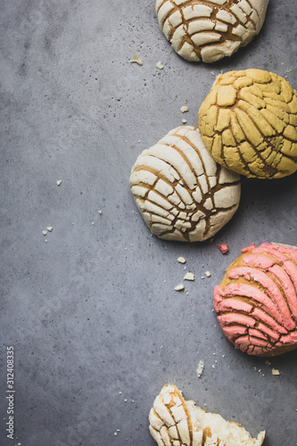 Photographie Mexican sweet bread conchas
