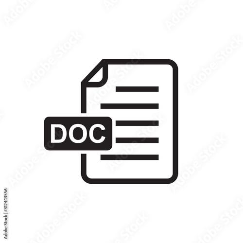 Tablou Canvas document icon, doc icon, data icon