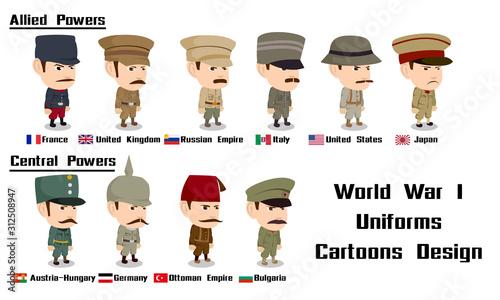 Foto world war 1 Allied Powers France United Kingdom Russian  Italy United States  Ja
