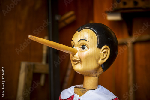 Obraz na płótnie Pinocchio en bois