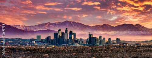 Fotografie, Obraz Los Angeles Skyline