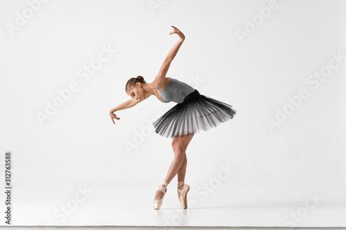 Canvas ballet dancer in rehearsal