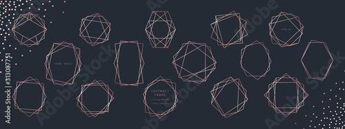 Canvas Print Christmas Geometric Lettering Card Vector