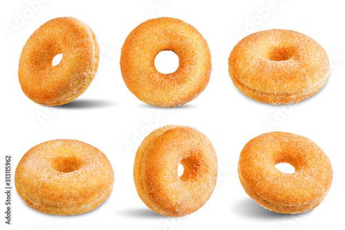 Obraz na płótnie Donut on a white isolated background