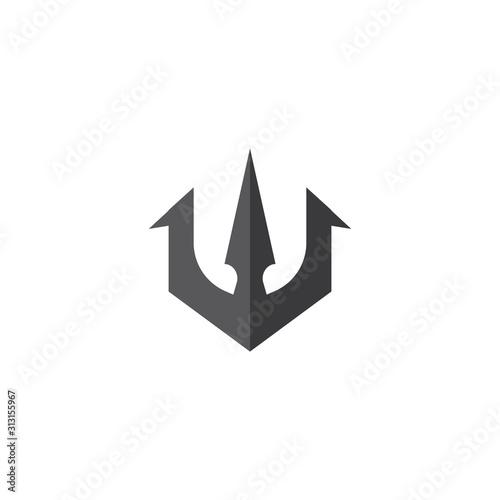 Obraz na plátne Trident  Logo Template vector symbol
