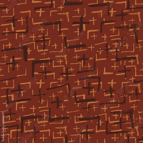 Plakat z modernistyczną teksturą w stylu wabi sabi
