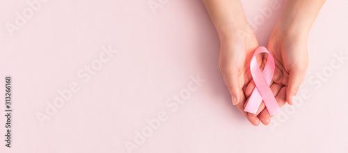 Photo Pink ribbon concept. National cancer survivor day.