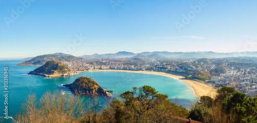 Obraz na płótnie Panoramic view of the Concha Bay