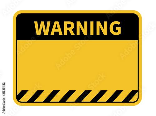 Fotografie, Obraz Warning sign. Blank warning sign. Vector illustration